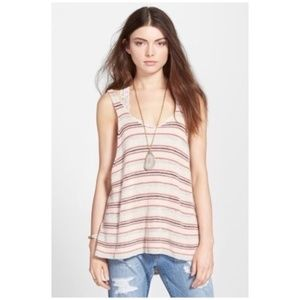 Free People sailor oversized striped tank top